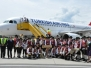 Empfang 1. Maschine der Türkisch Airlines